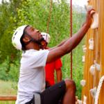 Dondre Smallwood climbing
