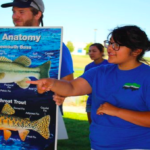ELK staff and students share information about fish anatomy